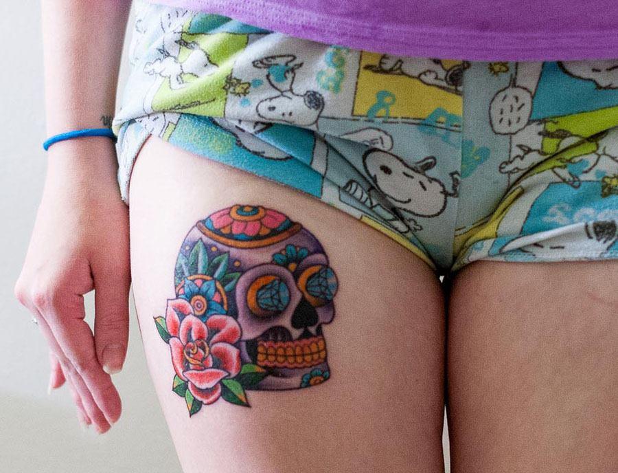 Small Skull Tattoo Design