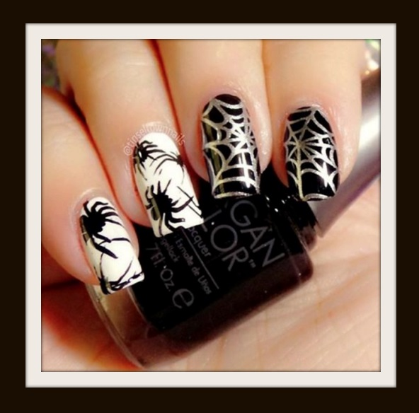 Spider Nail Art Idea