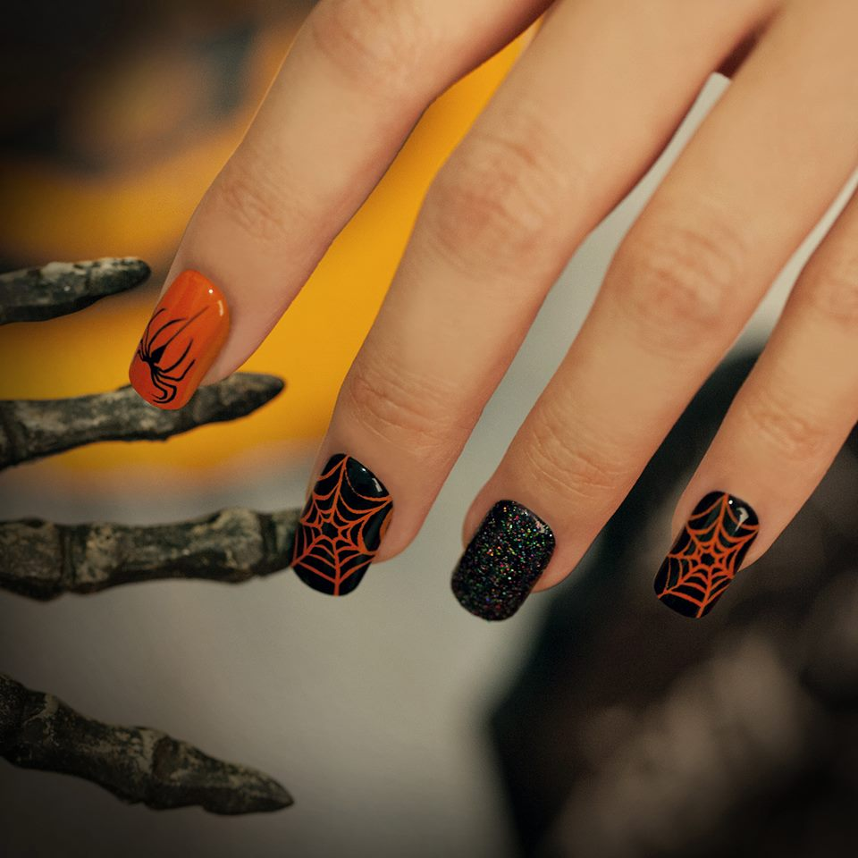 Spider Web Infused Nail Art