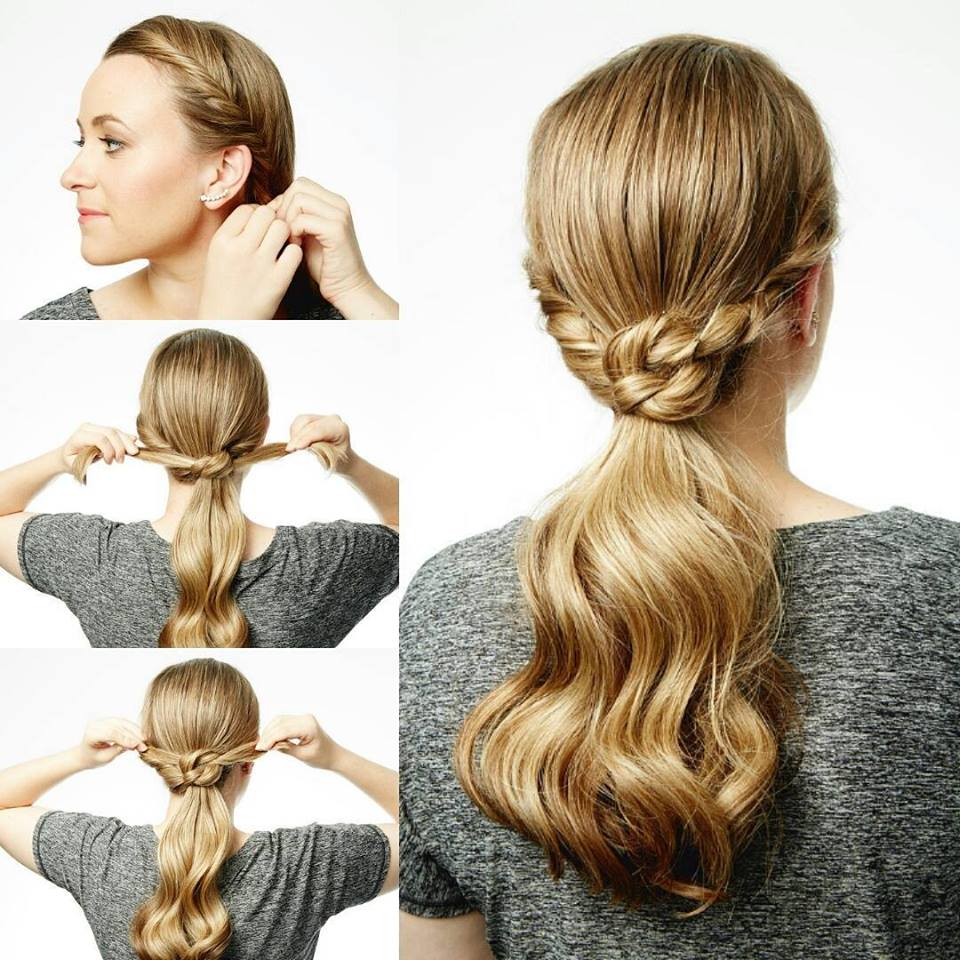 3-Easy Step Ponytail Hairstyle - Blurmark