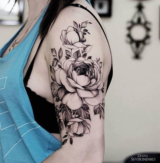 52 incredible flower tattoo designs for women. Black Bedroom Furniture Sets. Home Design Ideas