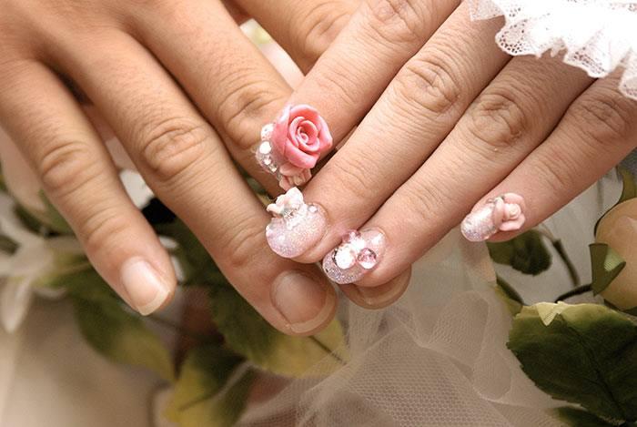 60 Best Wedding Nail Art Design Ideas For Romantic Look
