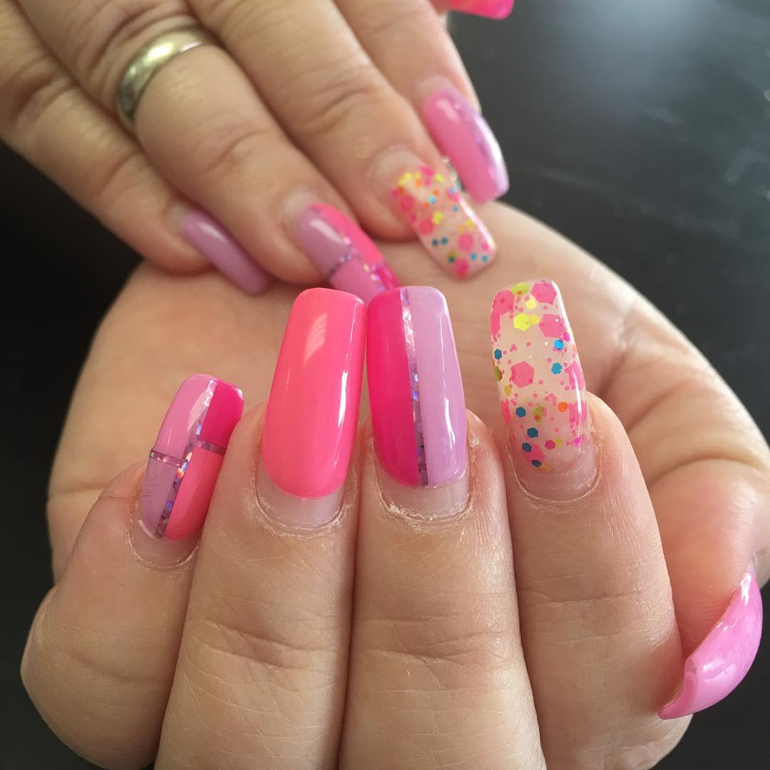 50 wonderful pink nail design ideas perfect for summer amazing pink nail art prinsesfo Choice Image