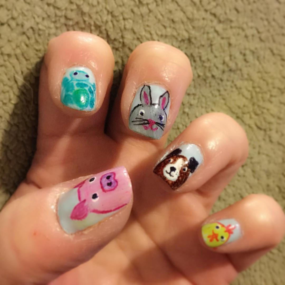 Animal Sharpie Nail Art