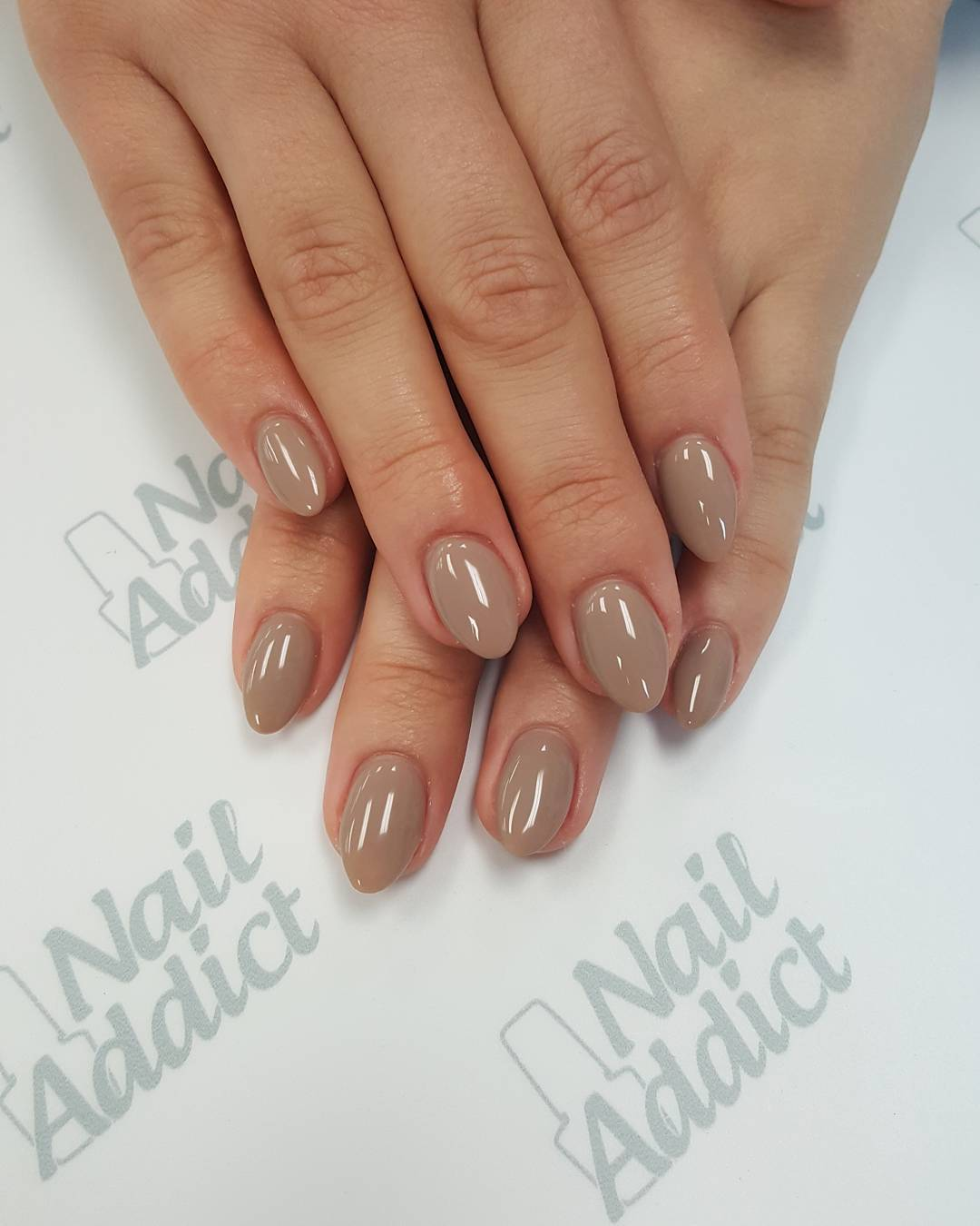 Baby Almond Nude Nails