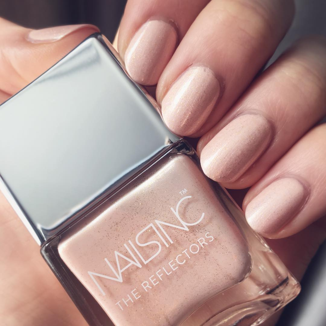 Baby Pink Glitter Nails