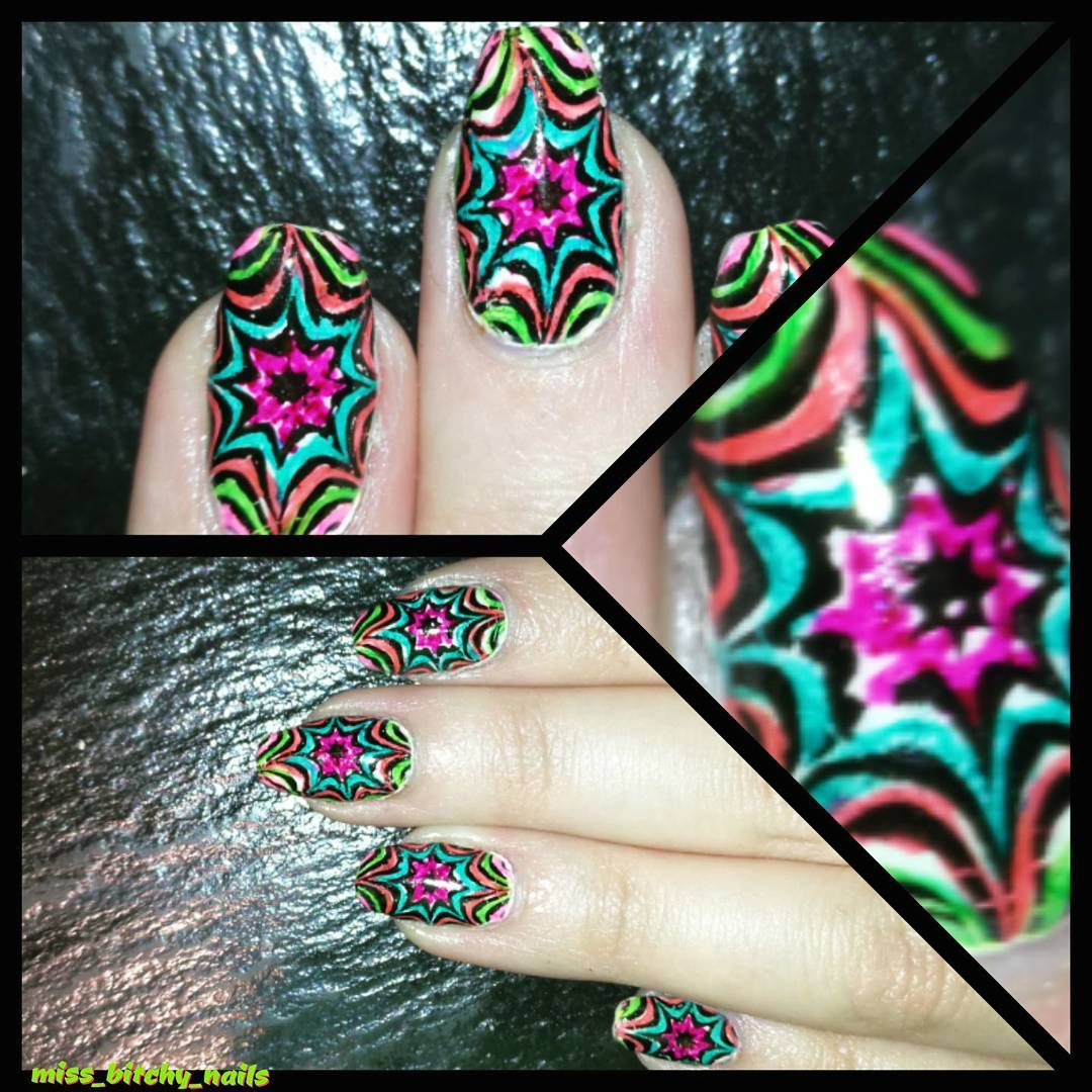 Beautiful Colored Sharpie Nails