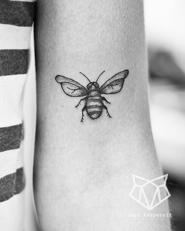Bee Inked On Arm