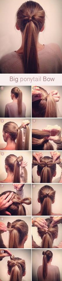 Big Ponytail Hair Bow Tutorial.