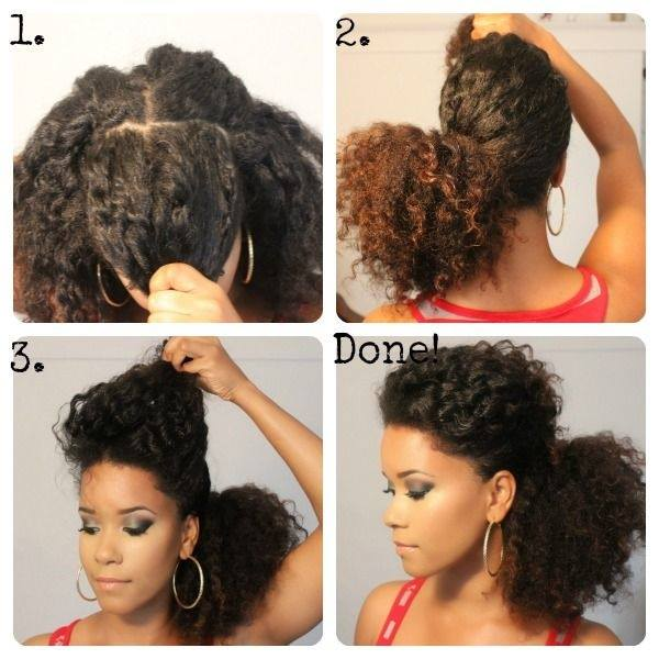Black Curly Ponytails