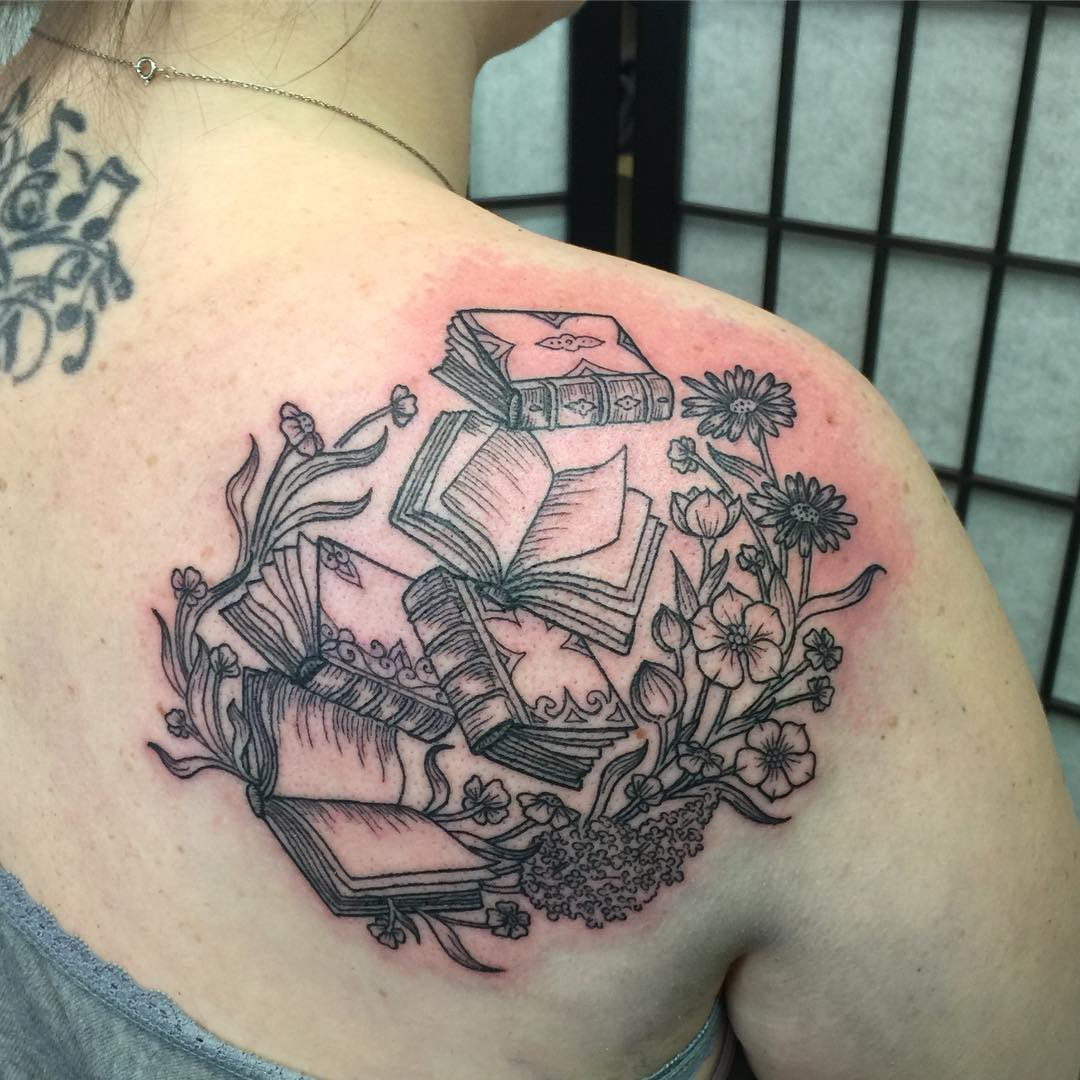 48 inspiring book tattoo ideas for girls. Black Bedroom Furniture Sets. Home Design Ideas