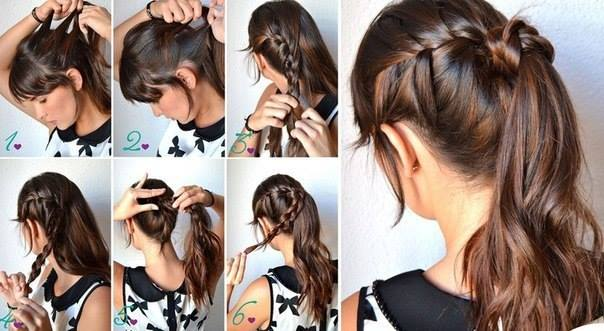 Braid Wrapped Ponytail
