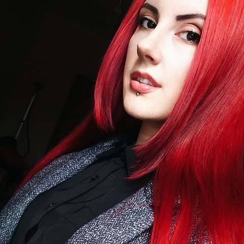 Bright Red Metal Hairs