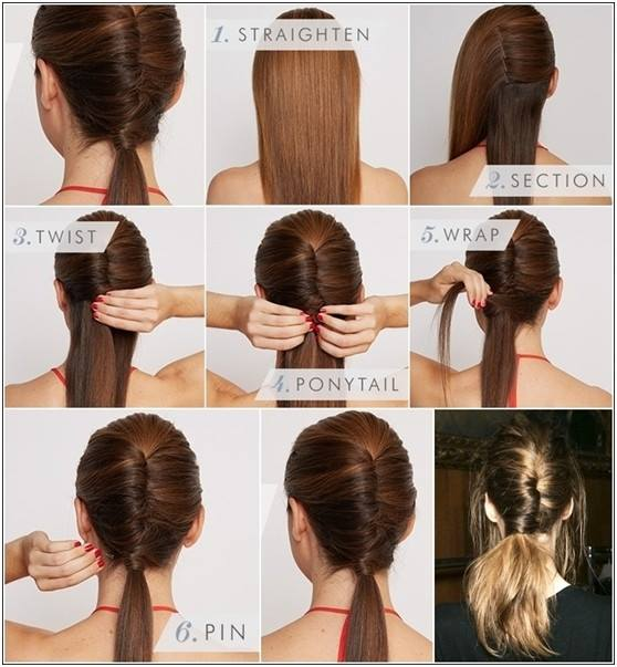 Chic Diy Chigon Ponytail Hairstyle