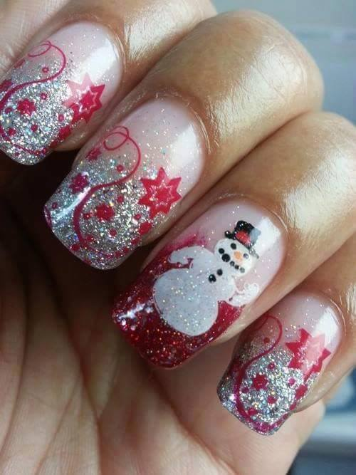 74 adorable holiday nail designs to try this christmas christmas nail design prinsesfo Choice Image