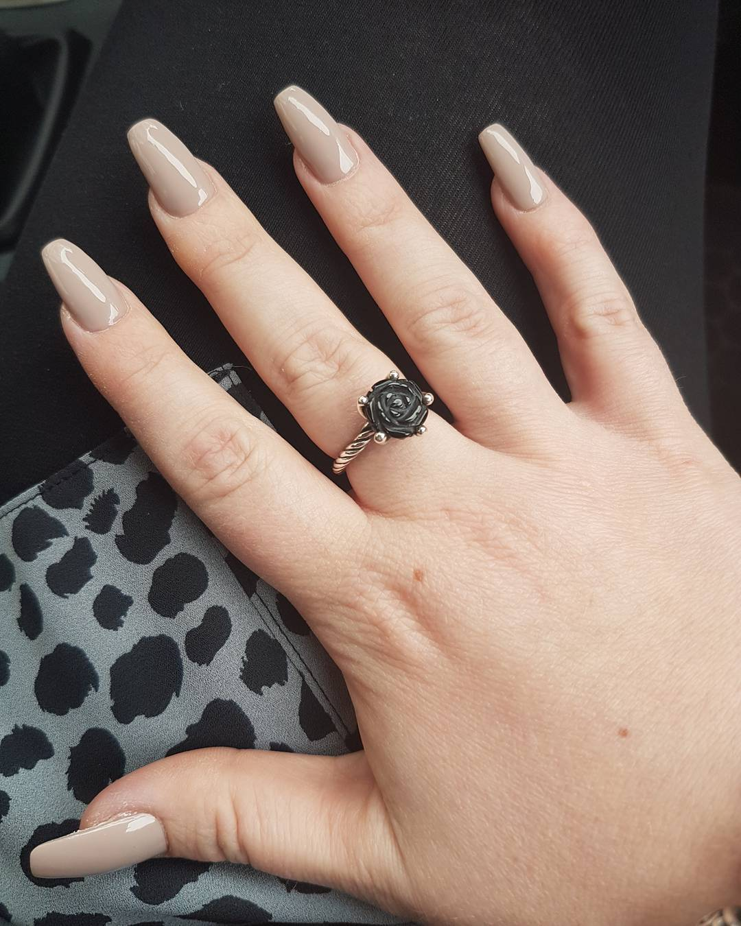 Coffin Neutral Nails