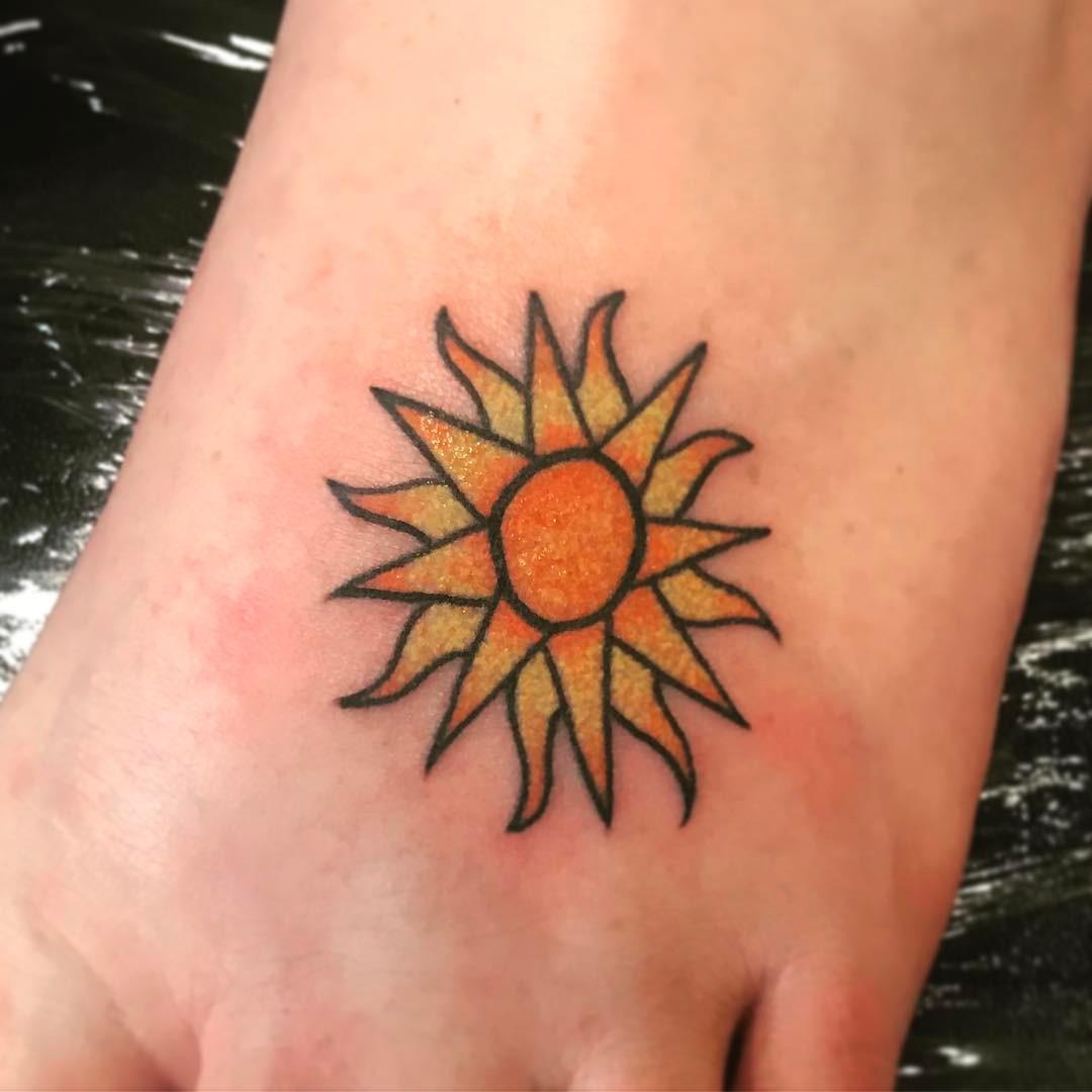 Sun Tattoos Small: 55 Totally Inspiring Ideas For Sun Tattoo Design