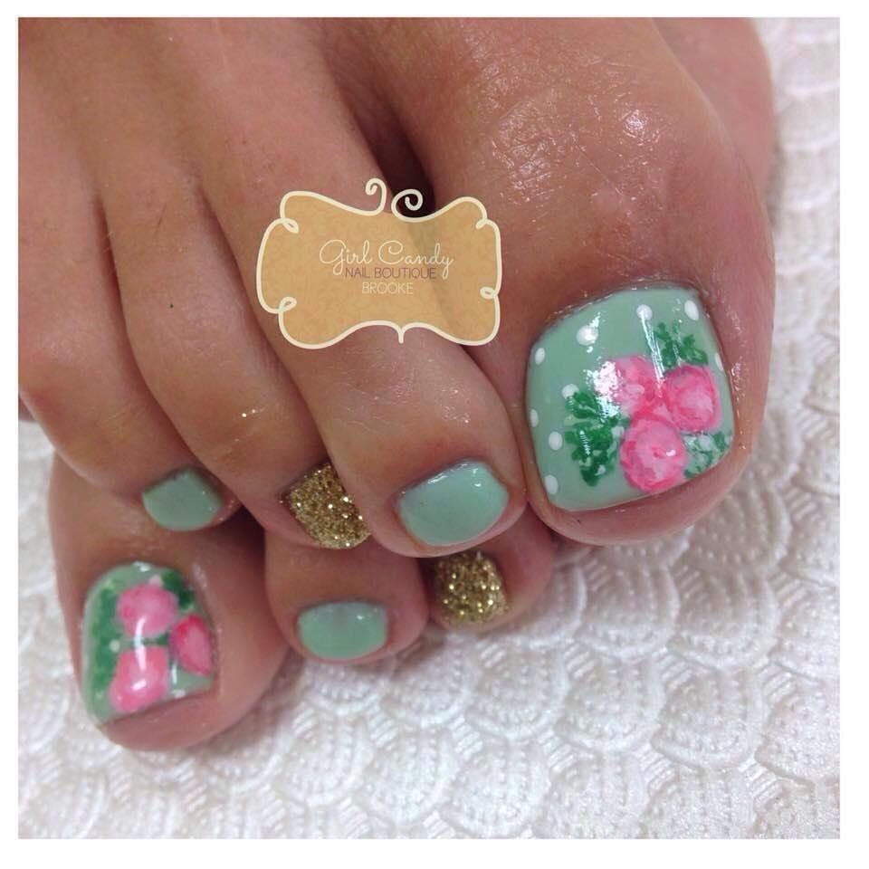 56 Adorable Toe Nail Designs For Summer 2017