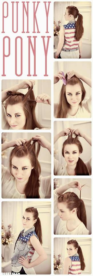 Cute Punky Ponytail Hairstyle