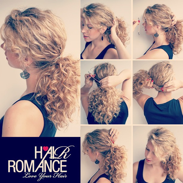 Easy Curly Hair Ponytail