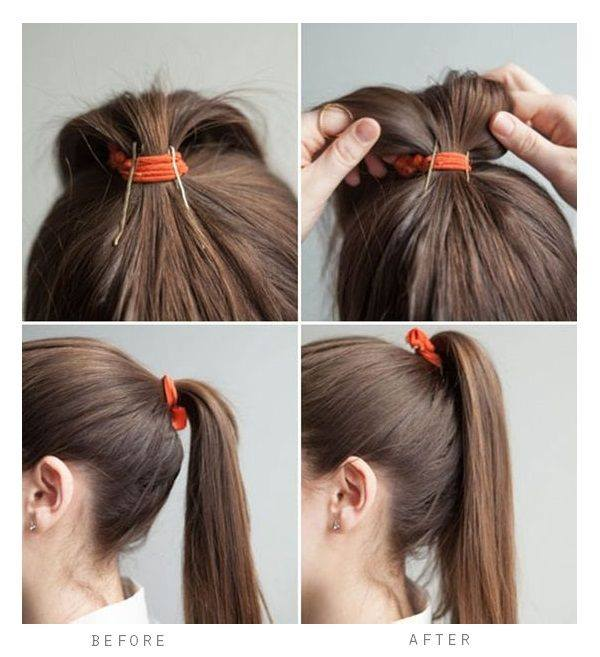 Easy High Ponytail Tutorial