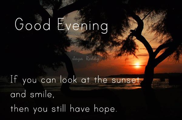 Lovely Good Evening Quotes And Wishes Blurmark