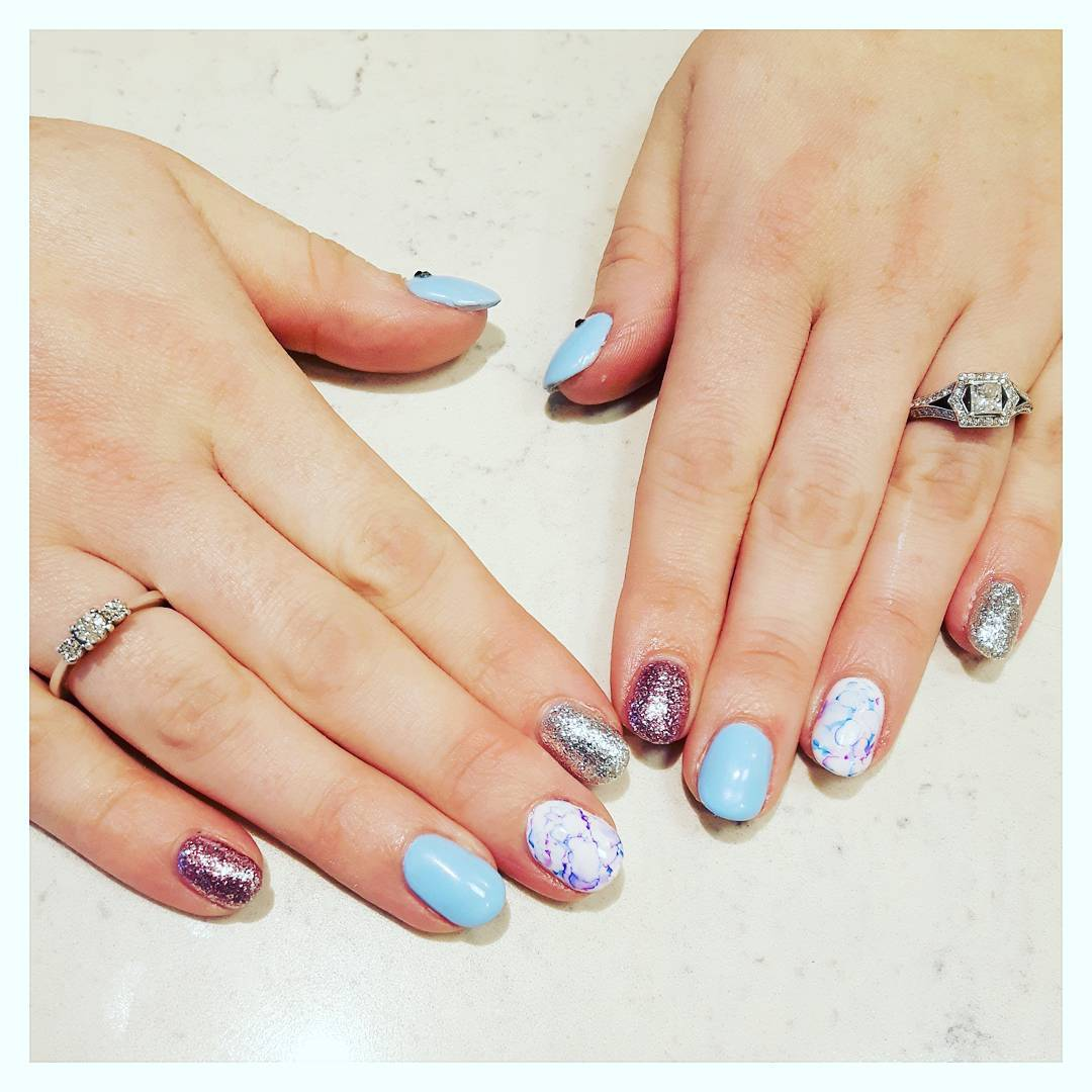 Fairy Tale Sharpie Nails