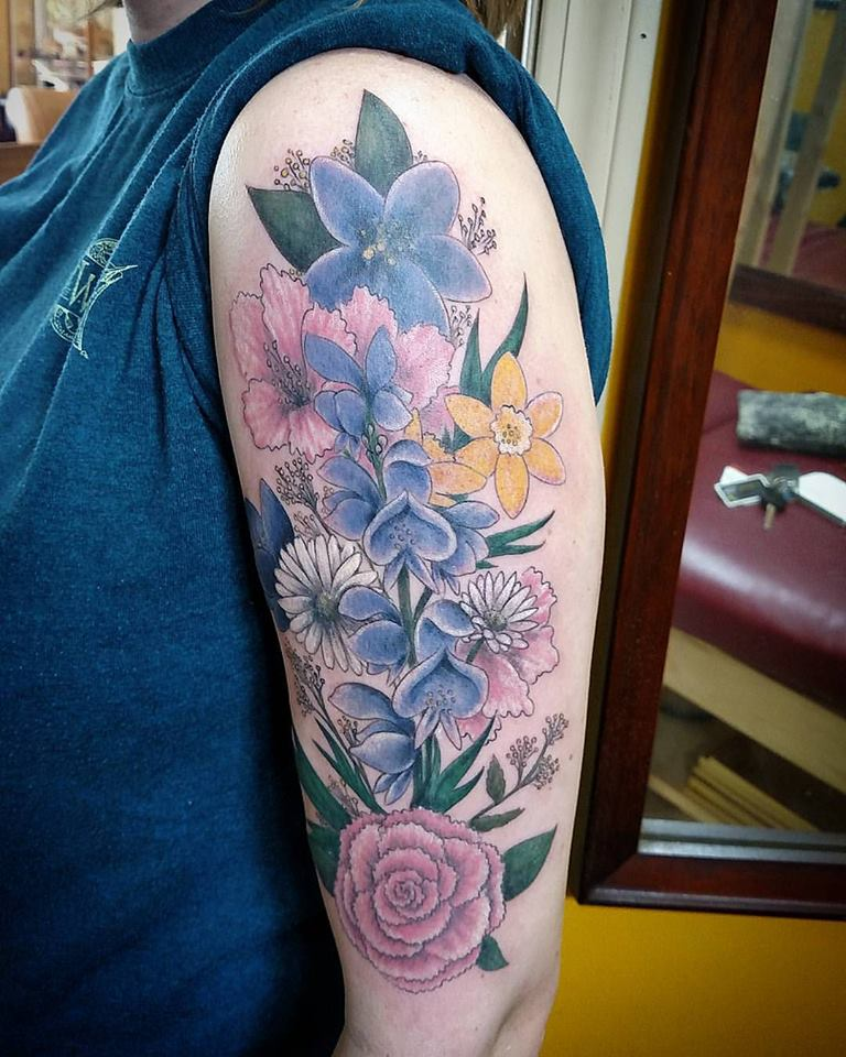52 incredible flower tattoo designs for women for Garden tattoos designs