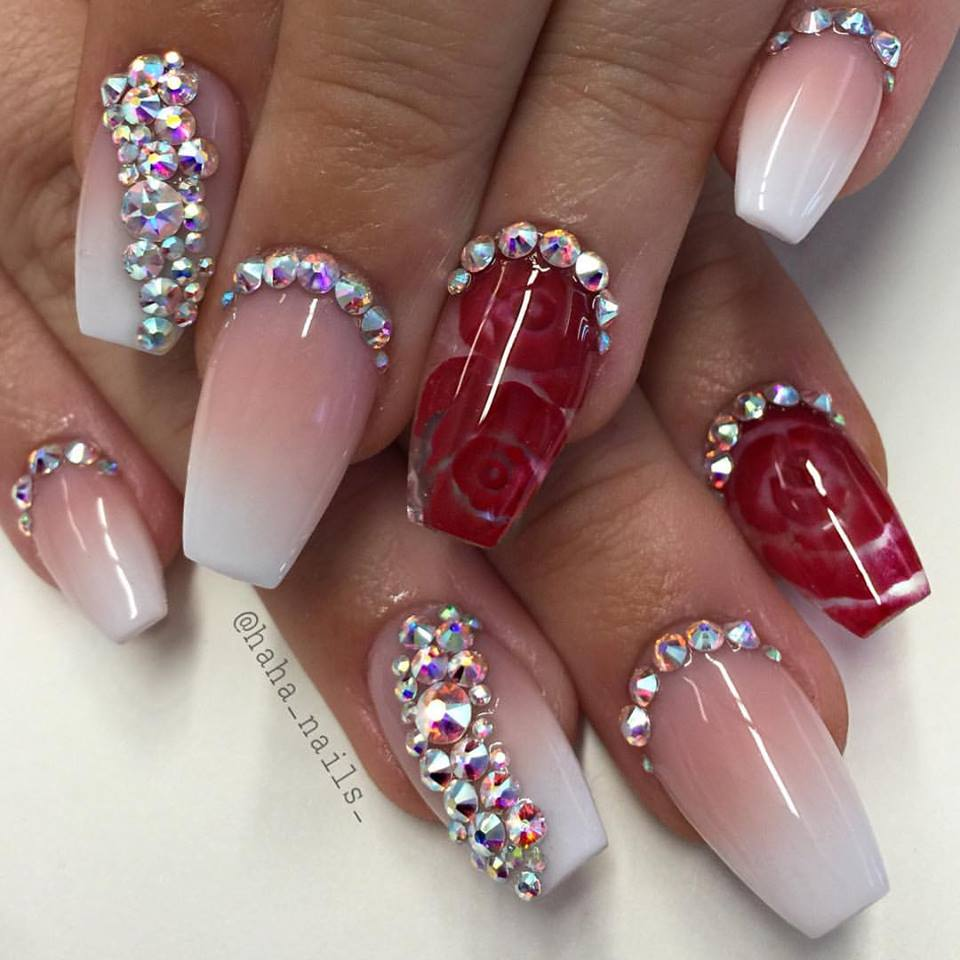 French Ombre Coffin Nails - Blurmark