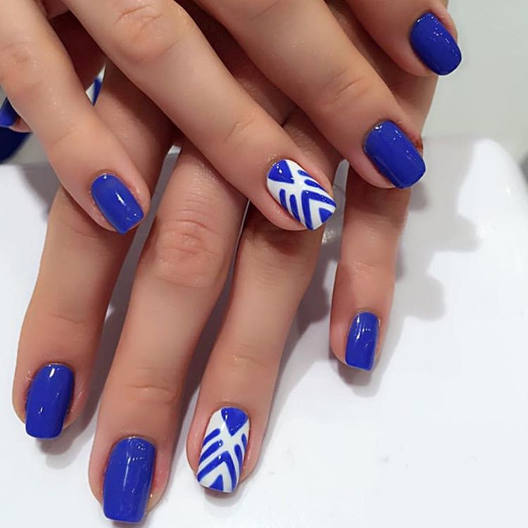 Gel Blue With White