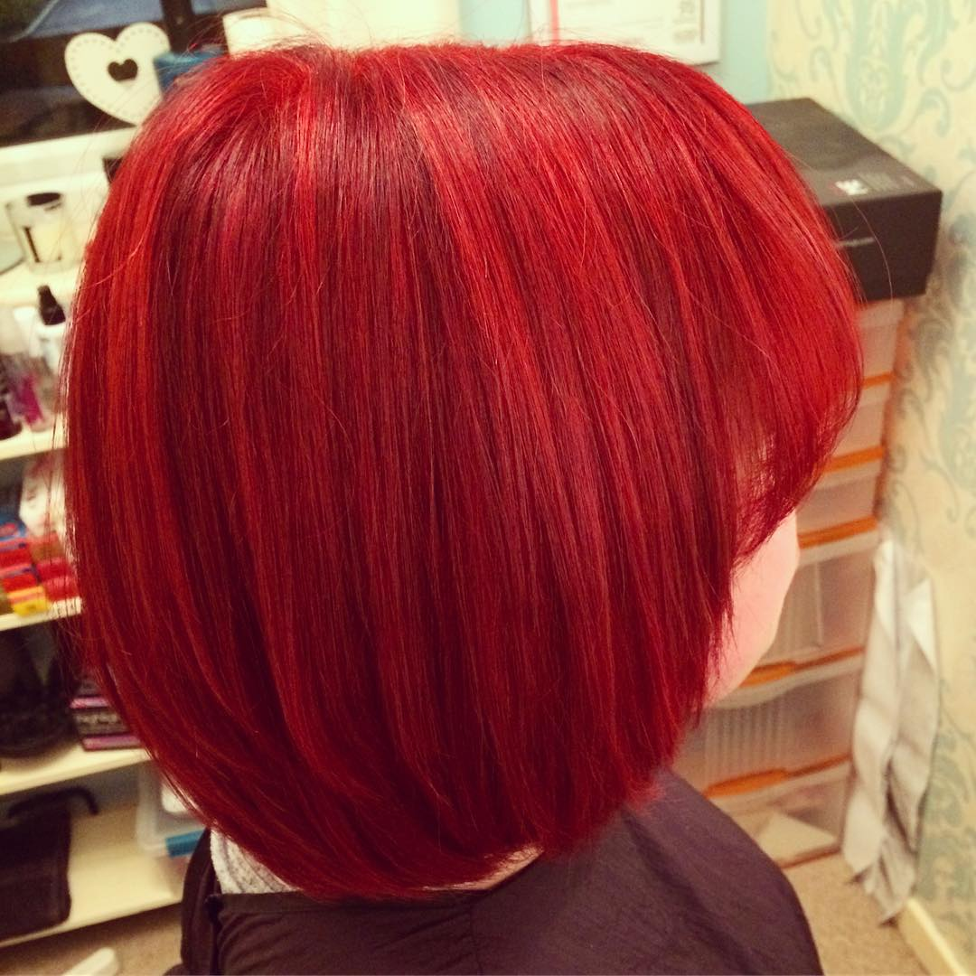 Glossy Bright Red Hairs