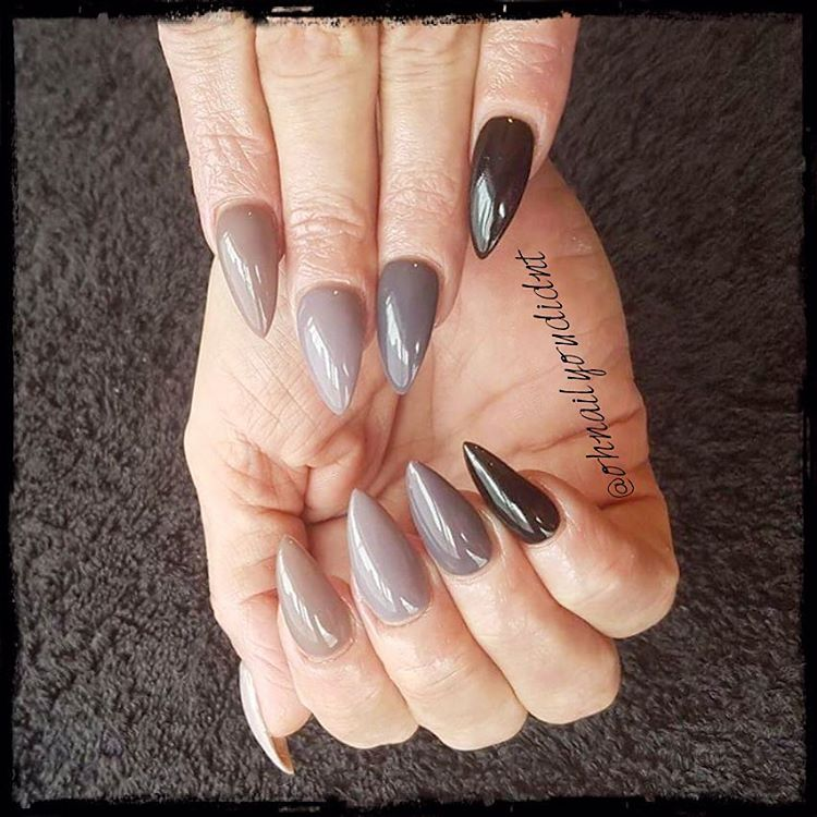 Grey Trinity Gel Neutral Nails