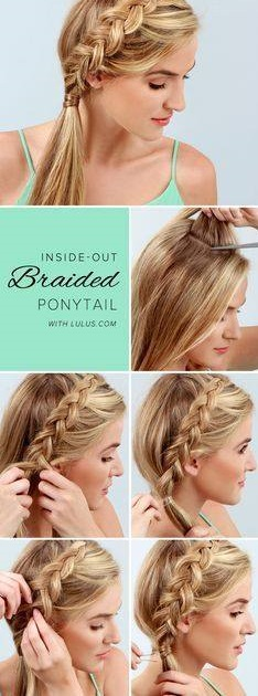 Inside-Out Braided Ponytail Hair Design Tutorial