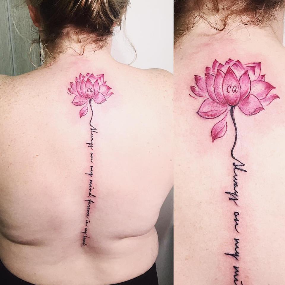 Lotus Tattoo On Neck Blurmark