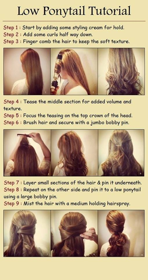 Low Ponytail Tutorials