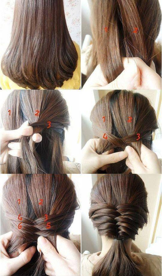 Low Ponytail With Braids Hairstyle Tutorial