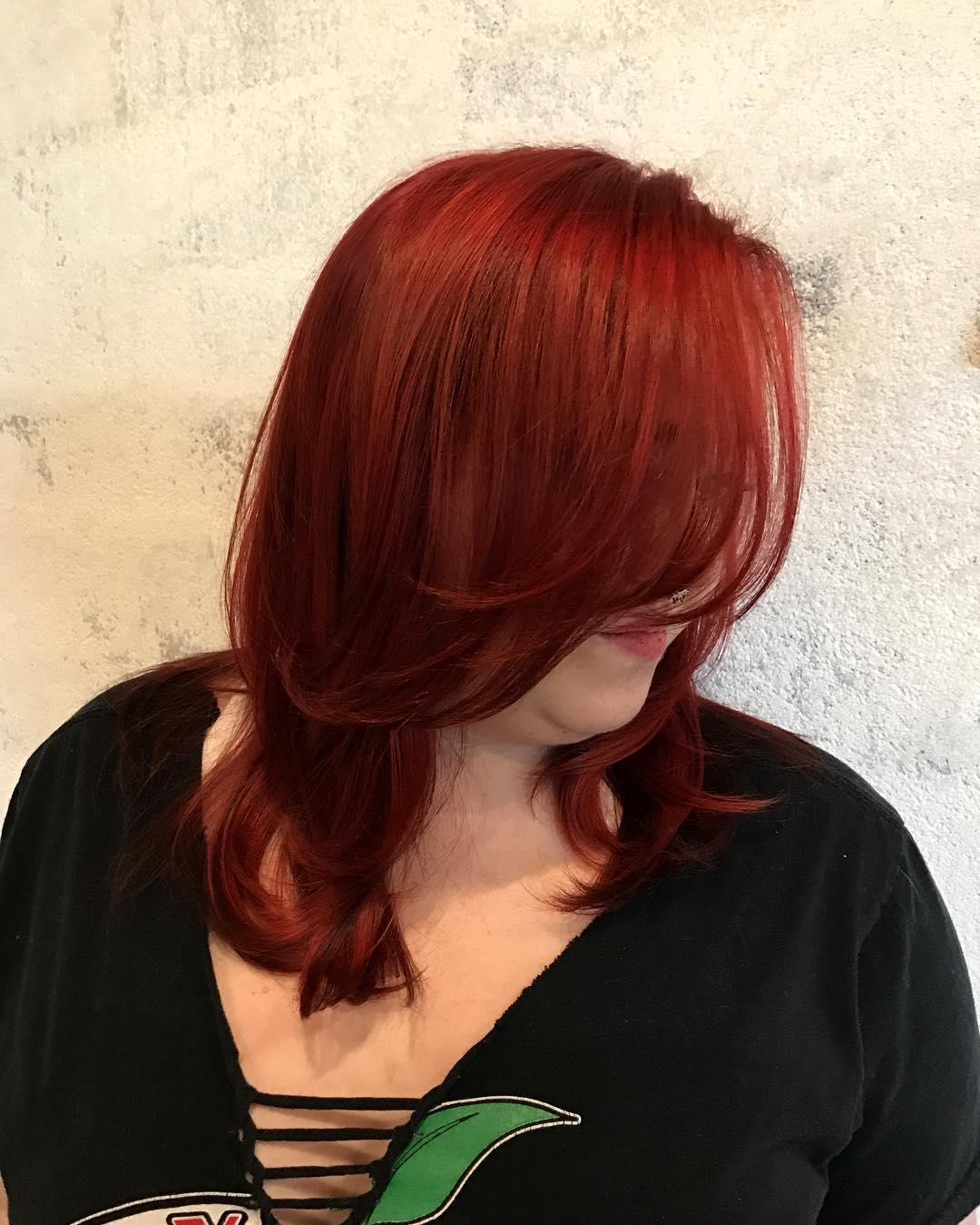 Neon Beach Waves Red Hairs