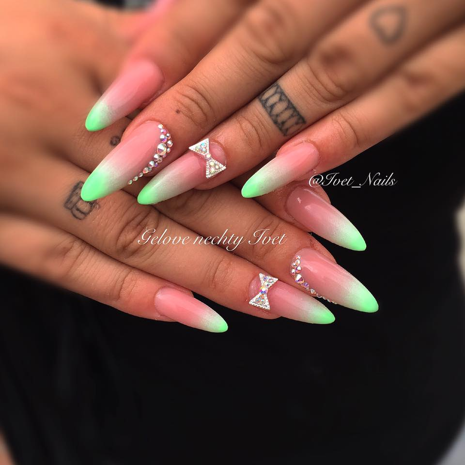 Neon Party Nails