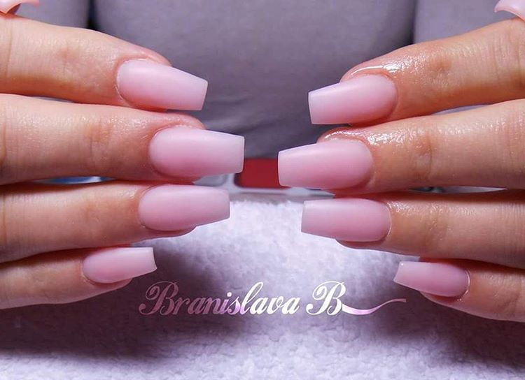 Nude Pink Neutral Nails