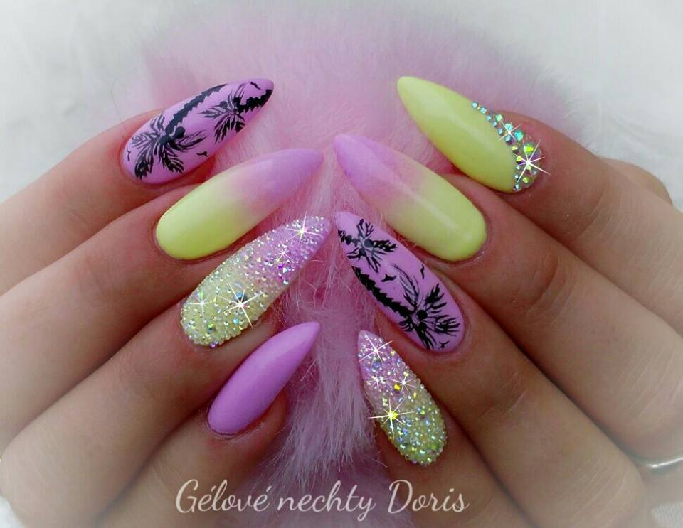 Ombre Yellow Nails