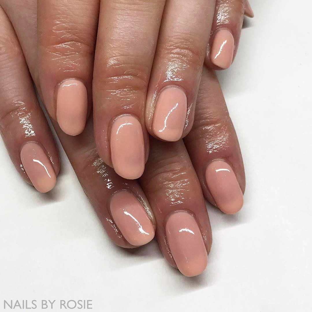 Peach Neutral Nails