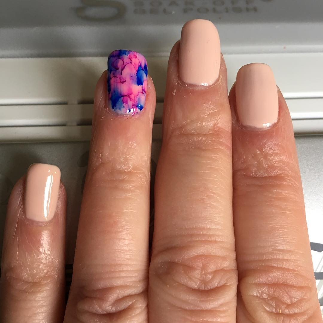 Pink Sharpie Nail Art