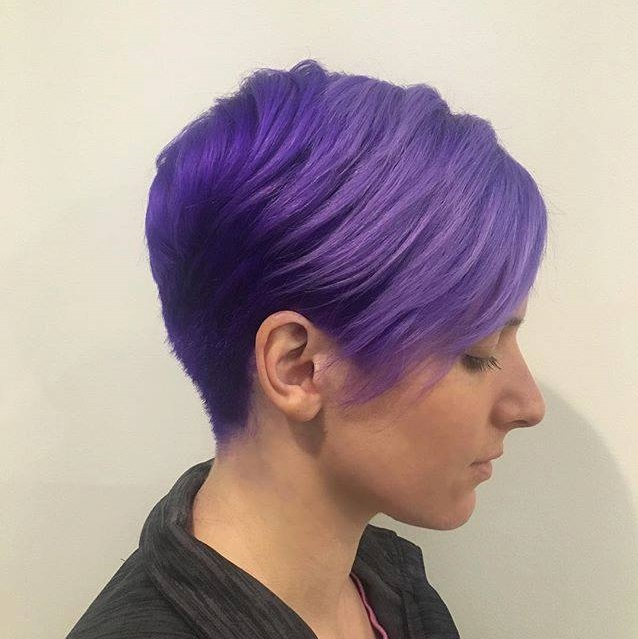 Pixie Haircut In Lavender Tones Hairs