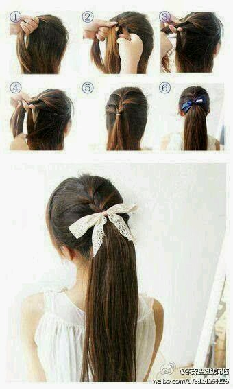 Ponytail tutorial step by step