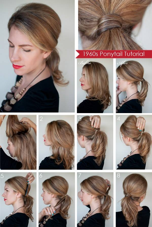 Quick Ponytail Tutorials