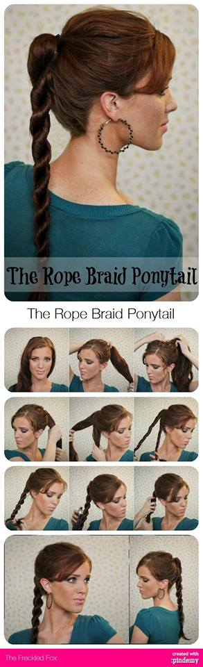 Rope Braid Ponytail