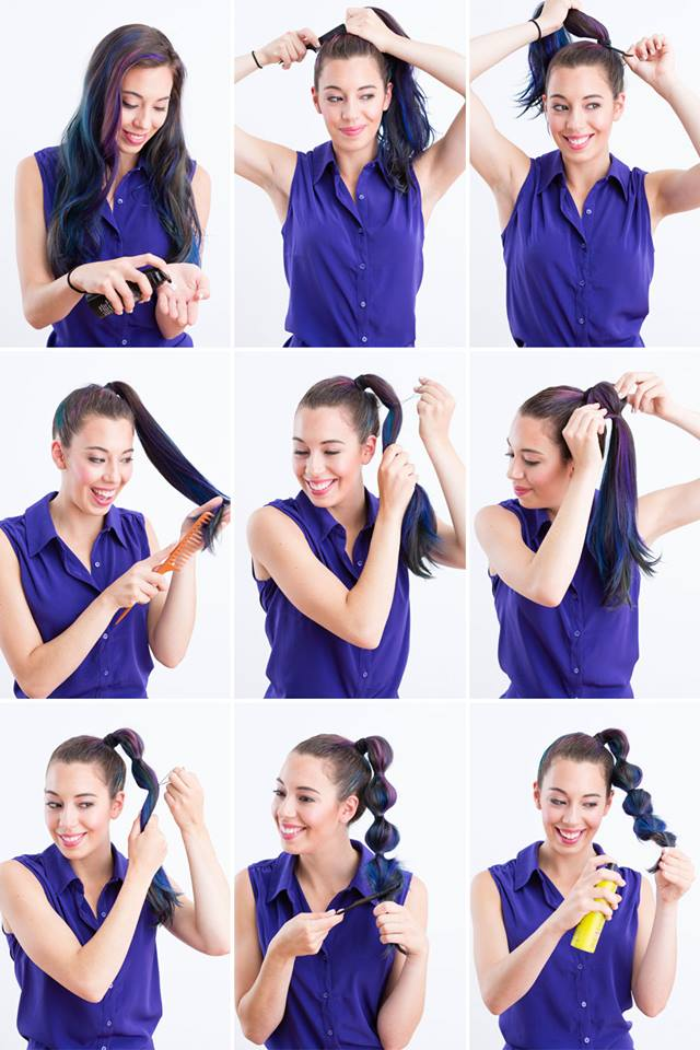 Segmented Ponytail Tutorial