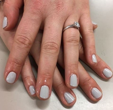 Silver Grey Gel Neutral Nails