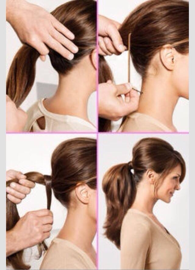 Simple Perfect Ponytails