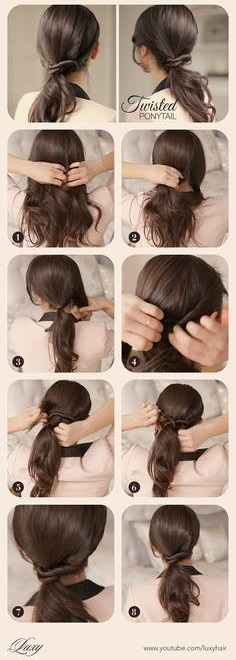 Simple Ponytail Tutorials